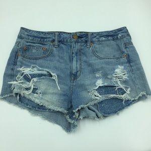 AEO hi Rise festival Jean shorts
